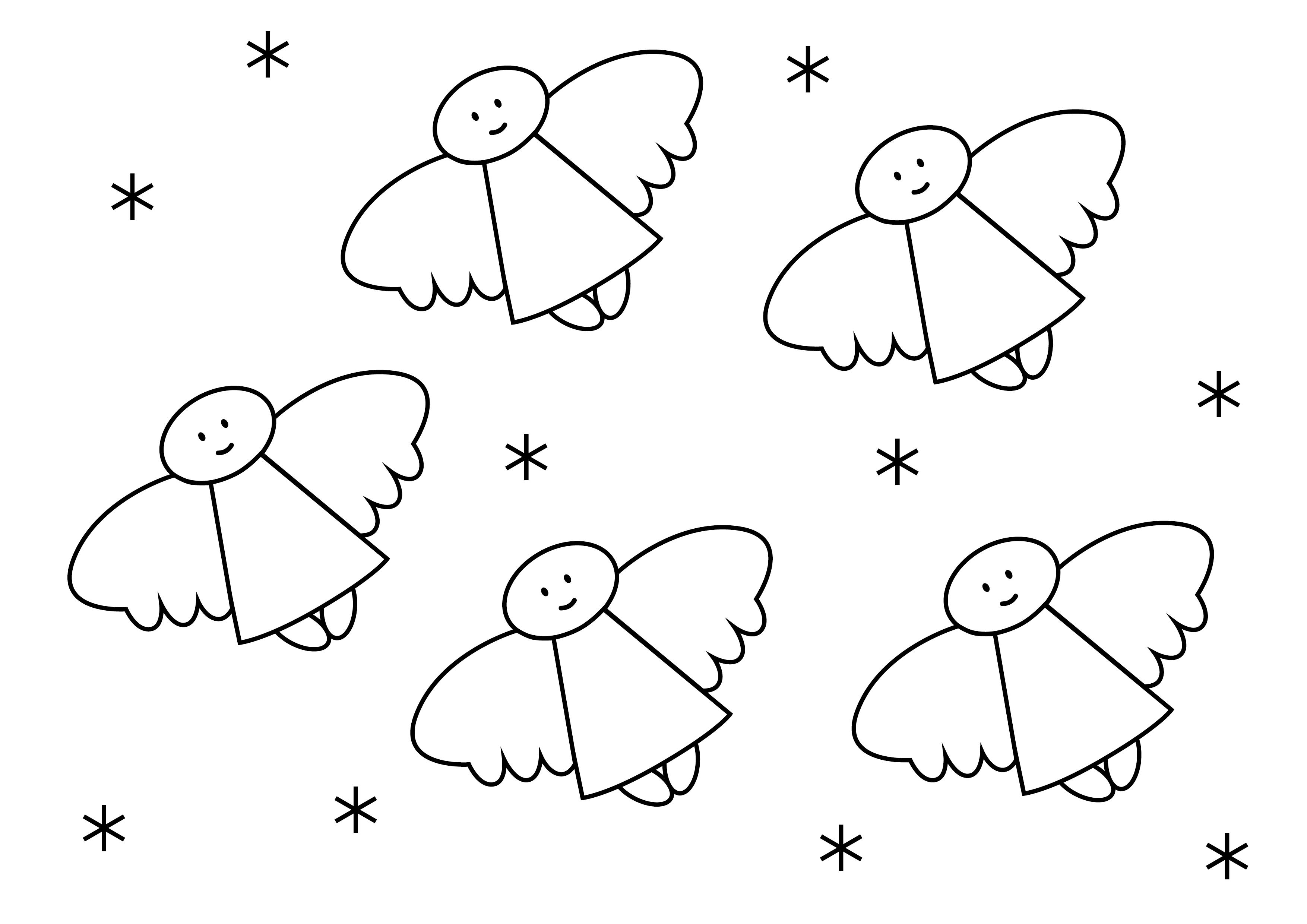 Engelen Info Kleurplaten